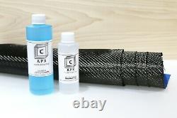 1 YARD 50 x 36 Carbon Fiber Fast Epoxy UV RESIN KIT 24 oz 2x2 Twill