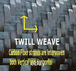 10 Ft -CARBON FIBER FABRIC-TWILL WEAVE-3K/220g x 1 meter