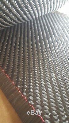 100 ft! 8 Carbon Fiber Fabric 2x2 Twill Weave, 12K, 19.7 oz sq yd