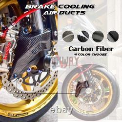 100mm Carbon Fiber Caliper Air Duct Brake Cooling for For Aprilia RSV4 RR 11-20