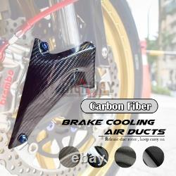 108mm Carbon Fiber Cooling Brake Rotor Disc Air Ducts for Kawasaki ZX10R 04-10