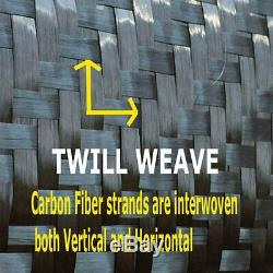 12 x 100 Ft-CARBON FIBER -3K Tow 220g/m2 -2x2 TWILL WEAVE -0.46mm Thick