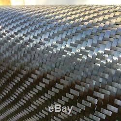 12 x 25 Ft-CARBON FIBER Fabric-3K TOW 220g/m2 -2x2 TWILL WEAVE