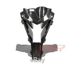 15+ BMW S1000RR Center Headlight Air Ram Intake Inlet Fairing Twill Carbon Fiber