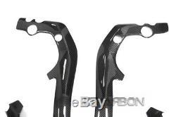 2004 2007 Honda CBR1000RR Carbon Fiber Frame Covers 2x2 twill weave