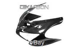 2005 2006 Kawasaki ZX6R ZX 6R Carbon Fiber Front Fairing 2x2 Twill weave