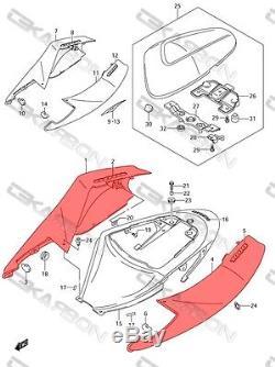 2005 2006 Suzuki GSXR 1000 Carbon Fiber Tail Side Fairings 2x2 twill weaves