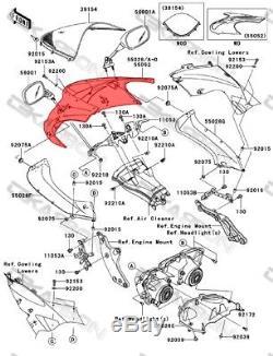 2006 2007 Kawasaki ZX10R Carbon Fiber Front Fairing 2x2 twill weaves