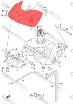 2006 2007 Suzuki GSXR 600 / 750 Carbon Fiber Tank Cover Gas Fuel 2x2 twill