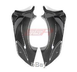 2006-2011 Kawasaki ZX14 Air Dash Ram Tube Cover Fairings 100% Twill Carbon Fiber