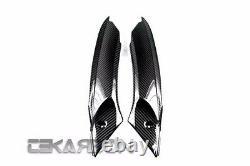2006 2012 Triumph Daytona 675 Carbon Fiber Air Intake Covers 2x2 twill