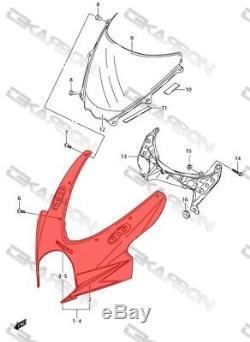 2007 2008 Suzuki GSXR 1000 Carbon Fiber Front Fairing 2x2 Twill Weave