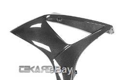 2007 2008 Suzuki GSXR 1000 Carbon Fiber Large Side Fairings 2x2 twill weave