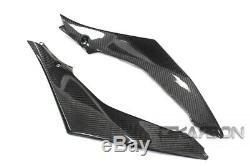 2007 2008 Suzuki GSXR 1000 Carbon Fiber Side Tank Panels 2x2 twill weave