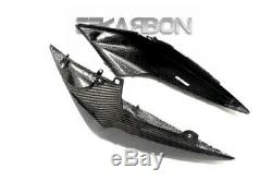 2007 2011 Kawasaki Z750 Carbon Fiber Tail Side Fairings Rear Cover 2x2 twill