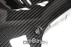 2007 2012 Honda CBR600RR Carbon Fiber Large Side Fairings 2x2 twill weave