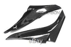 2008 2010 Kawasaki ZX10R Carbon Fiber Side Tank Panels 2x2 twill weaves