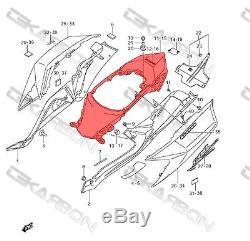 2008 2010 Suzuki GSXR 600 / 750 Carbon Fiber Tail Fairing 2x2 twill weave