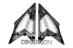 2008 2010 Triumph Speed Triple Carbon Fiber Side Tank Panels 2x2 twill weave