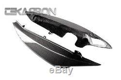 2008 2010 Triumph Speed Triple Carbon Fiber Tail Side Fairings 2x2 twill