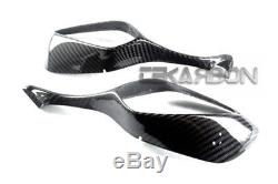 2008 2011 Honda CBR1000RR Carbon Fiber Mirror Covers 2x2 twill weaves