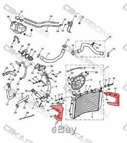 2008 2012 Triumph Street Triple Carbon Fiber Radiator Covers 2x2 twill