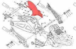 2008 2014 Ducati Monster 696 Carbon Fiber Rear Hugger 2x2 twill red weaves