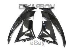 2009 2012 Kawasaki ZX6R Carbon Fiber Large Side Fairings 2x2 twill weaves
