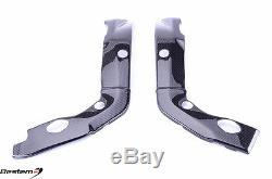 2009 2014 BMW S1000RR Frame Protector Covers 100% Carbon Fiber Twill