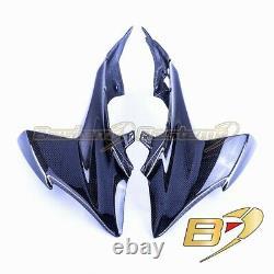 2009-2016 Carbon Fiber Head Cowl Side Panels Twill Weave For Suzuki GSXR 1000