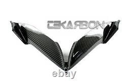 2010 2013 MV Agusta F4 Carbon Fiber Front Air Intake Scoop Trim 2x2 twill