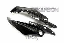 2011 2012 Kawasaki Z750R Carbon Fiber Headlight Side Panels 2x2 twill weaves