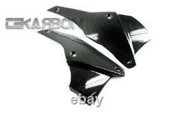 2011 2014 Triumph Speed Triple Carbon Fiber Lower Side Fairings 2x2 twill