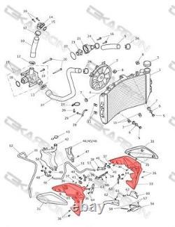 2011 2014 Triumph Speed Triple Carbon Fiber Radiator Covers 2x2 twill