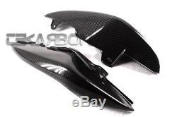 2011 2014 Triumph Speed Triple Carbon Fiber Tail Side Fairings 2x2 twill
