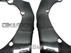2011 2015 Kawasaki Ninja ZX10R Carbon Fiber Frame Covers 2x2 twill