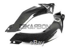 2011 2015 Kawasaki Ninja ZX10R Carbon Fiber Upper Side Panels 2x2 twill