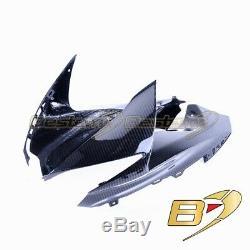 2011-2018 GSX-R 600 750 Upper Side Nose Dash Cowl Carbon Fiber Twill Weave