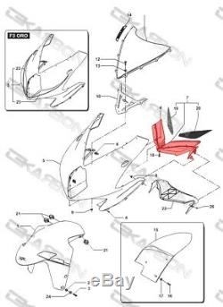 2012 2015 MV Agusta F3 Carbon Fiber Nose Fairing 2x2 twill weaves