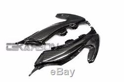 2012 2015 Yamaha Tmax 530 Carbon Fiber Upper Side Fairings 2x2 twill
