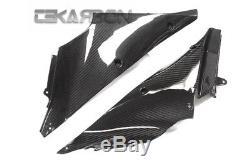 2012 2016 Kawasaki Ninja ZX14R Carbon Fiber Inner Side Panels 2x2 twill