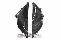 2012 2016 Kawasaki ZX14R Carbon Fiber Inner Side Panels 2x2 twill