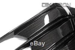 2012 2016 Kawasaki ZX14R Carbon Fiber Side Tank Panels 2x2 twill weave