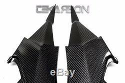 2013 2014 Kawasaki Z800 Carbon Fiber Side Panels 2x2 Twill weave