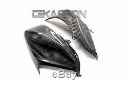 2013 2014 Kawasaki Z800 Carbon Fiber Side Tank Panels 2x2 Twill weaves