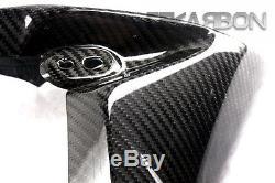 2013 2015 Triumph Street Triple Carbon Fiber Radiator Covers 2x2 twill weave