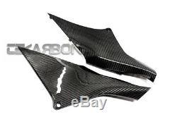 2013 2016 Honda CBR600RR Carbon Fiber Side Panels 2x2 twill weave