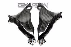 2013 2016 Kawasaki Z800 Carbon Fiber Lower Side Panels 2x2 Twill weave