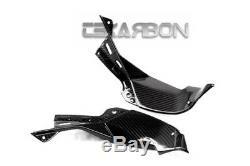 2013 2016 Kawasaki ZX6R Carbon Fiber Air Intake Covers 2x2 twill weaves