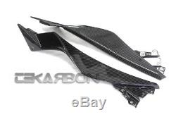 2013 2017 Kawasaki Ninja 300 250R Carbon Fiber Side Tank Panels 2x2 twill